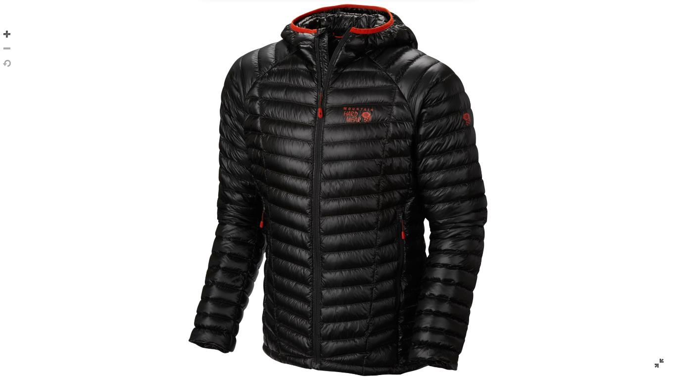 Mountain Hardwear Mens Ghost Whisperer™ Down Hooded Jacket Shark
