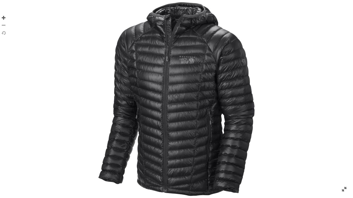 Mountain Hardwear Mens Ghost Whisperer™ Down Hooded Jacket Black