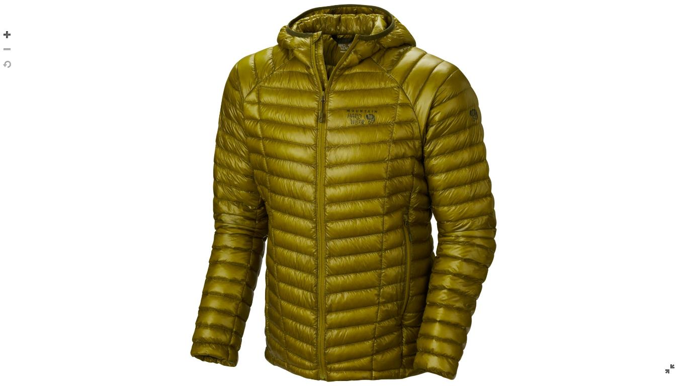Mountain Hardwear Mens Ghost Whisperer™ Down Hooded Jacket Python Green