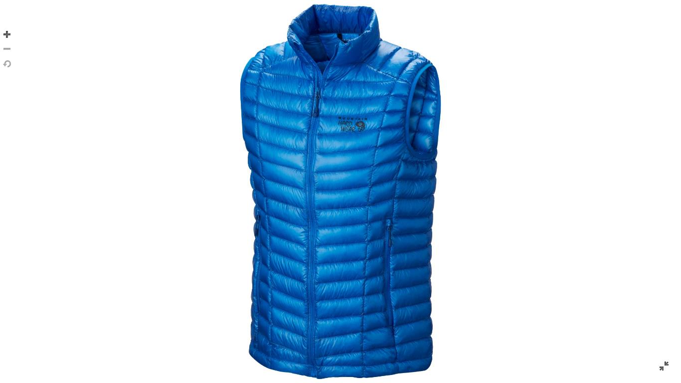 Mountain Hardwear Mens Ghost Whisperer™ Down Vest Hyper Blue