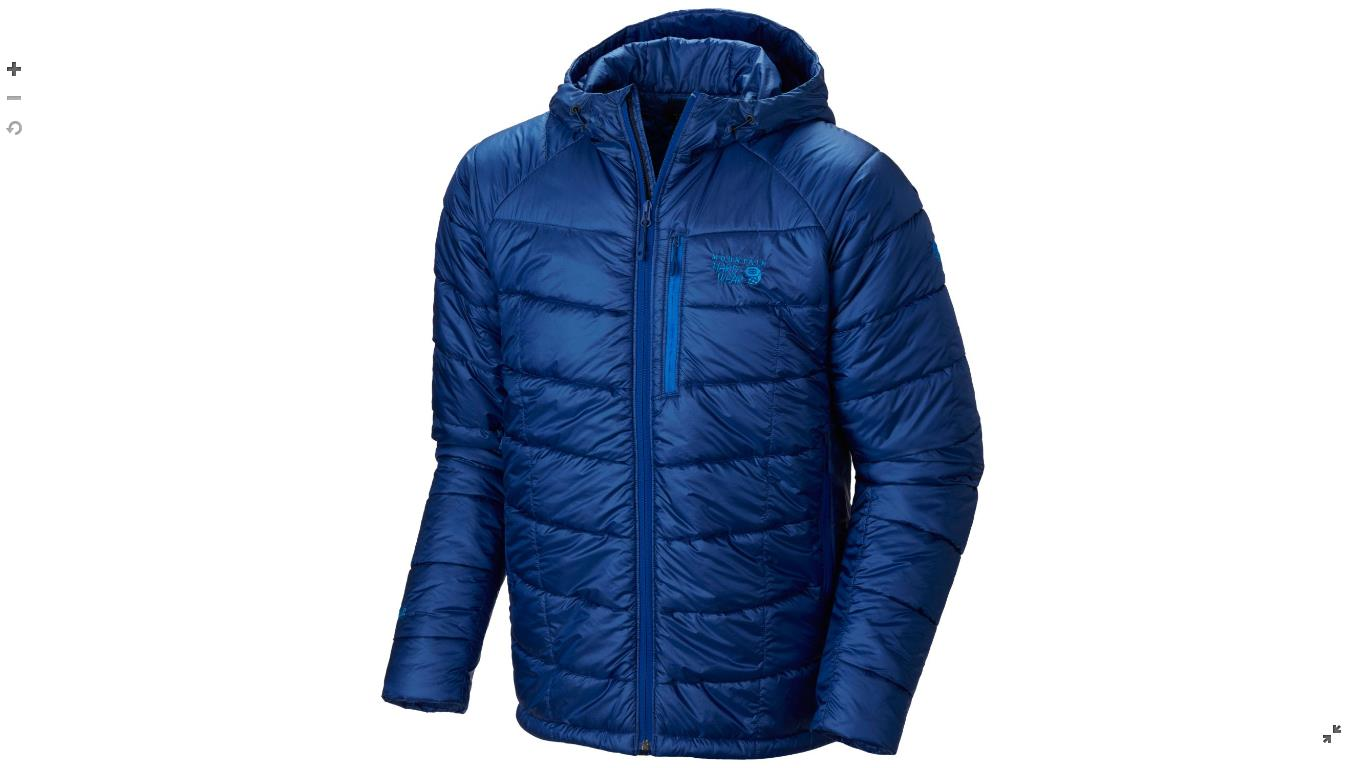 Mountain Hardwear Mens Super Compressor™ Hooded Jacket Azul