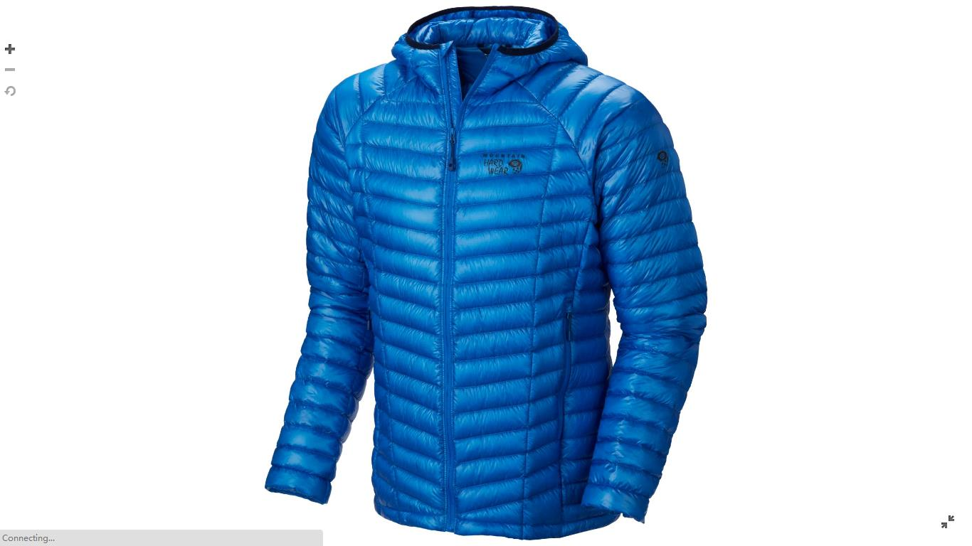 Mountain Hardwear Mens Ghost Whisperer™ Down Hooded Jacket Hyper Blue