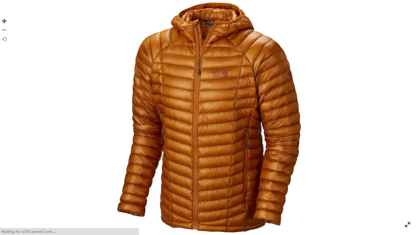 Mountain Hardwear Mens Ghost Whisperer™ Down Hooded Jacket Desert Gold