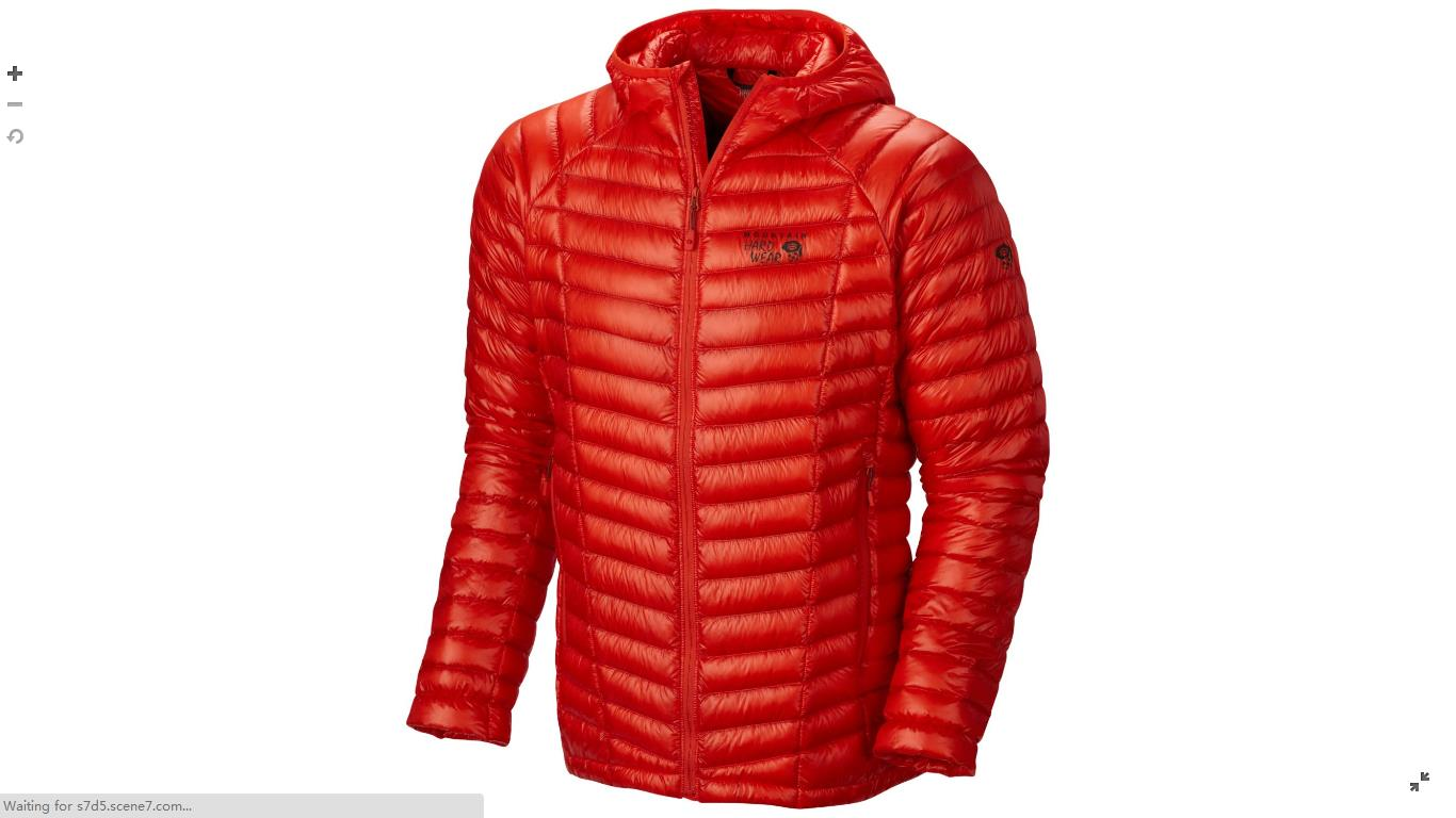Mountain Hardwear Mens Ghost Whisperer™ Down Hooded Jacket State Orange