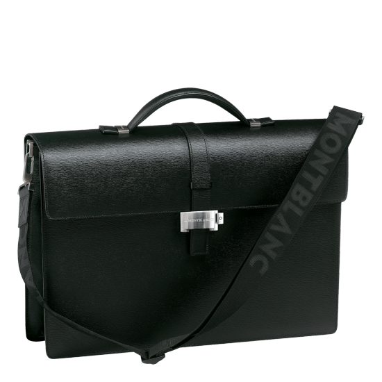 MONT BLANC 4810 WESTSIDE SINGLE GUSSET BRIEFCASE