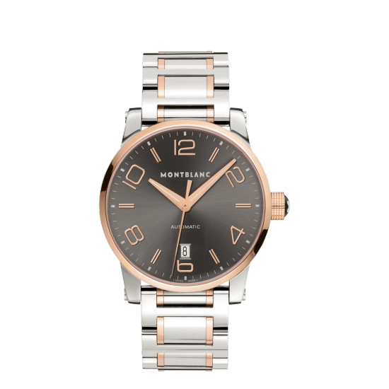 MONT BLANC TIMEWALKER AUTOMATIC STEEL GOLD