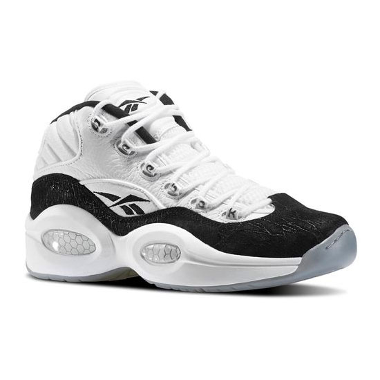 REEBOK MEN'S CLASSICS QUESTION MID Black / White