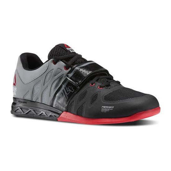 REEBOK MEN'S CROSSFIT REEBOK CROSSFIT LIFTER 2.0 Black / Flat Grey / Excellent Red