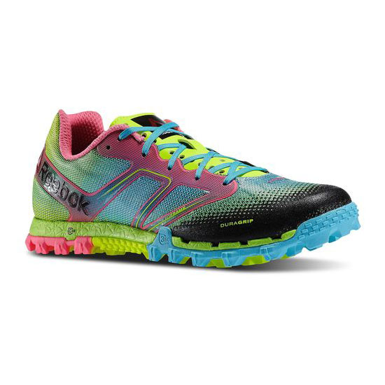 REEBOK WOMEN'S RUNNING ALL TERRAIN SUPER Solar Yellow / Neon Blue / Pink / Solar Green