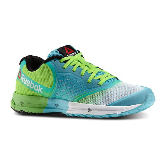 REEBOK WOMEN'S RUNNING REEBOK ONE GUIDE 2.0 Neon Blue / Solar Green / White / Black
