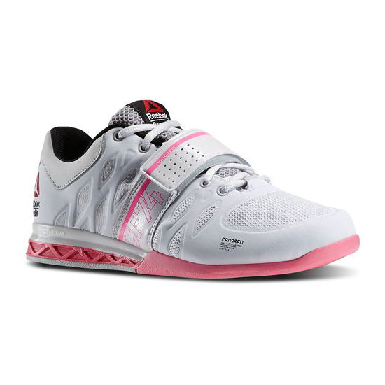 REEBOK WOMEN'S CROSSFIT REEBOK CROSSFIT LIFTER 2.0 Porcelain / Steel / Electro Pink / Black / Happy