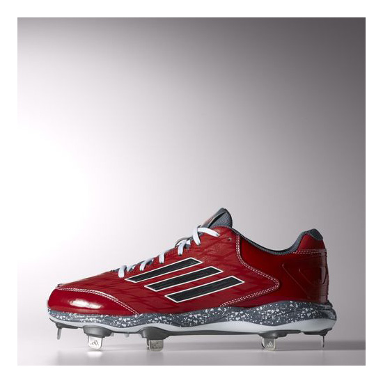 Men's Adidas Baseball PowerAlley 2.0 Cleats Power Red / Carbon Metallic / Onix