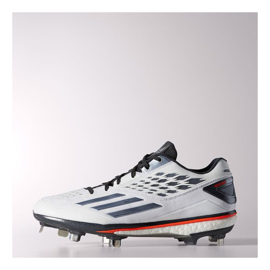 Men's Adidas Baseball Energy Boost Icon Cleats Running White Ftw / Tech Grey Metallic / Infrared