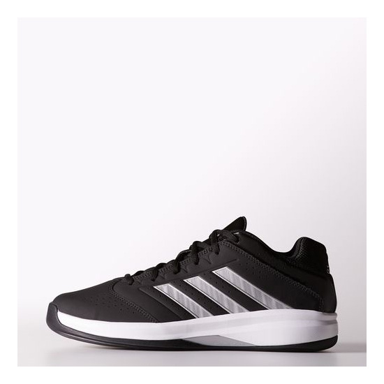 Men's Adidas Basketball Isolation 2.0 Low Shoes Core Black / Metallic Silver / Running White