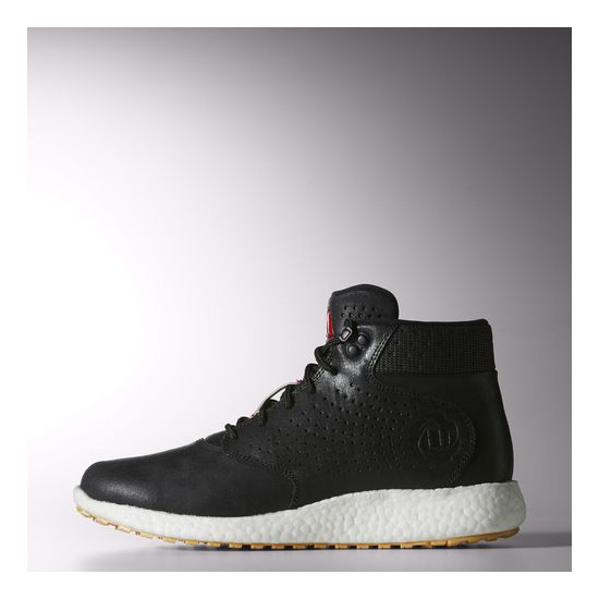 Men's Adidas Basketball D Rose Lakeshore Boost Shoes Core Black