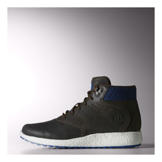 Men's Adidas Basketball D Rose Lakeshore Boost Shoes Brown