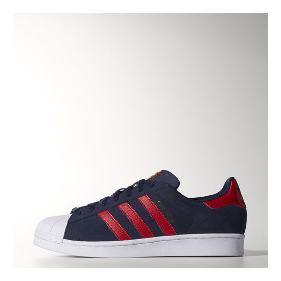 Men's Adidas Originals Superstar Shoes Collegiate Navy / Light Scarlet / Running White