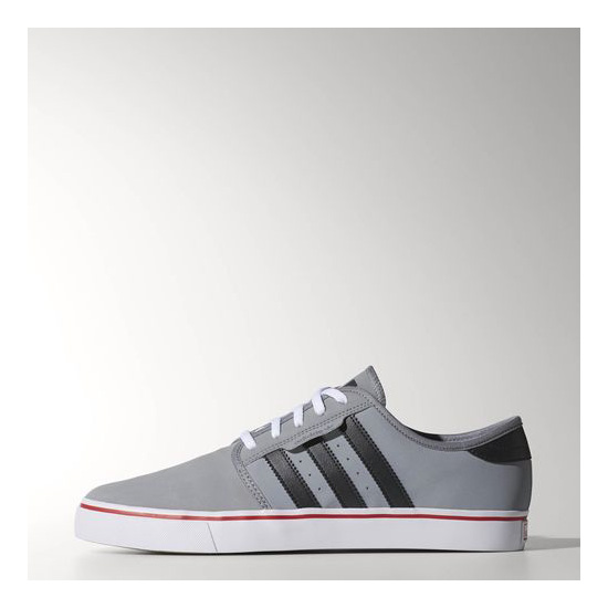 Men's Adidas Originals Seeley Shoes Grey / Carbon / University Red
