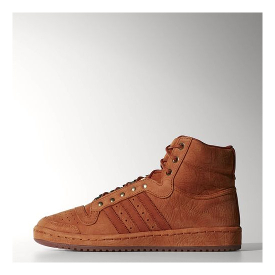 Men's Adidas Originals Top Ten Hi Shoes Fox Red / Fox Red / Fox Red