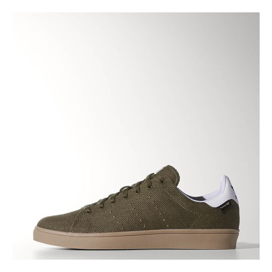 Men's Adidas Originals Stan Smith Vulc Shoes Dark Cargo / Running White / Gum