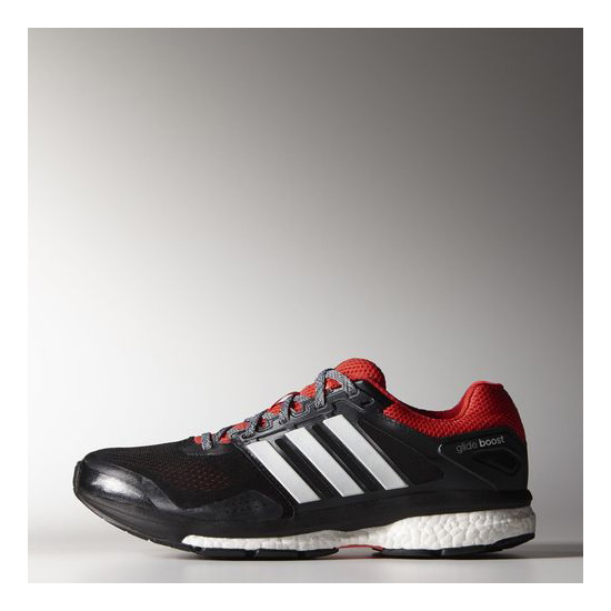 Men's Adidas Running Supernova Glide Boost 7 Shoes Core Black