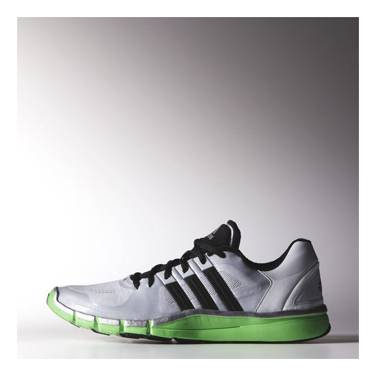 Men's Adidas Training Adipure 360.2 Shoes Clear Grey / Black / Flash Green