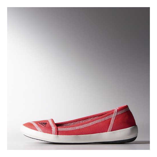 Women's Adidas Outdoor Boat Slip-On Sleek Shoes FLASH RED / DARK GREY / CHAL