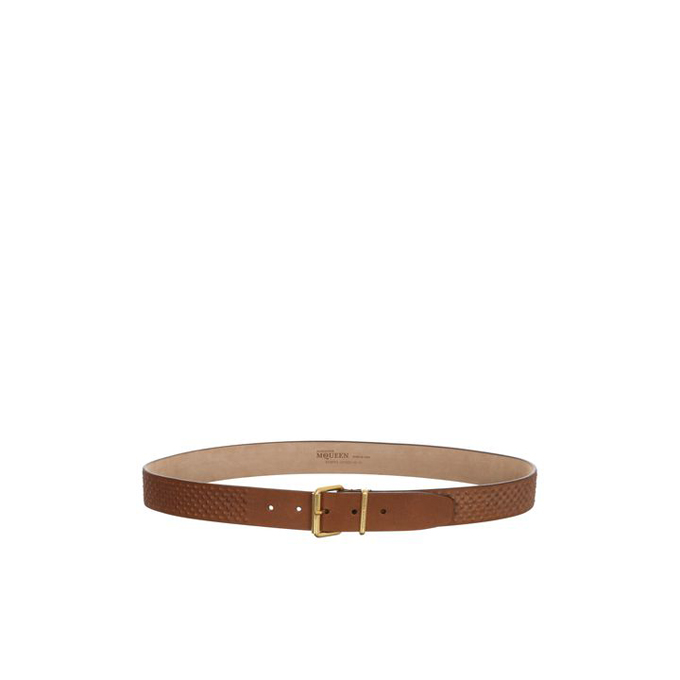 ALEXANDER MCQUEEN LEATHER COVERED STUDDED BELT