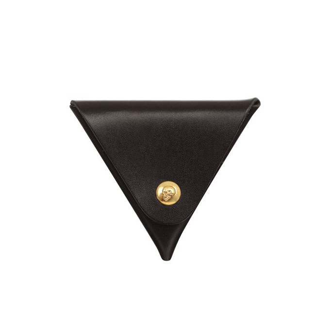 ALEXANDER MCQUEEN TRIANGULAR SKULL PRESS COIN PURSE
