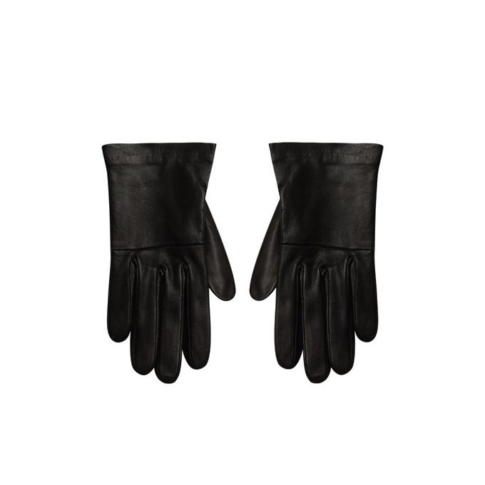 ALEXANDER MCQUEEN CROPPED LEATHER GLOVES