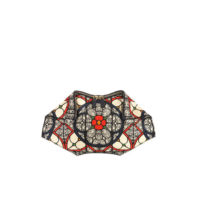 ALEXANDER MCQUEEN GRAPHIC STAINED GLASS PRINT DE MANTA CLUTCH