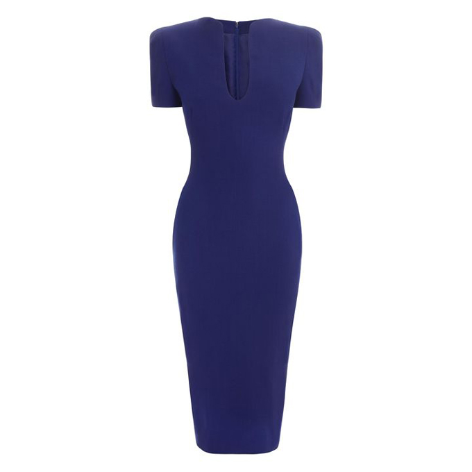 ALEXANDER MCQUEEN U-NECK PENCIL DRESS