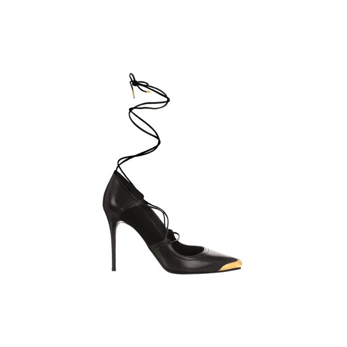 ALEXANDER MCQUEEN ANKLE WRAP TOE-CAP POINTY PUMP