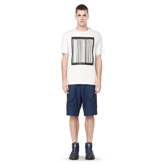 DARK BLUE ALEXANDER WANG CARGO SHORTS