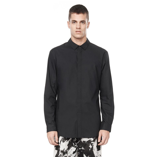 BLACK ALEXANDER WANG COLLARD BUTTON DOWN SHIRT