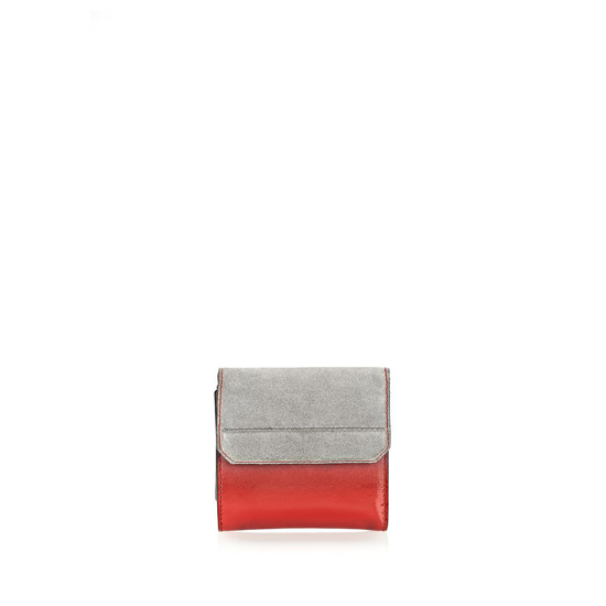 MULTICOLORED ALEXANDER WANG CHASTITY COMPACT WALLET IN PAVEMENT WITH RHODIUM