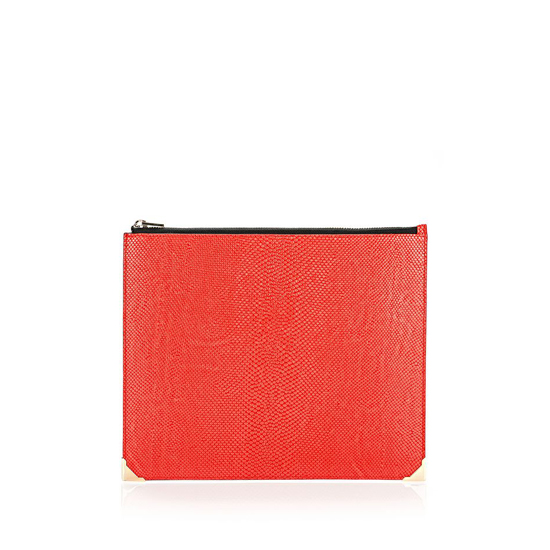 RED ALEXANDER WANG CHINESE NEW YEAR EDITION PRISMA FLAT POUCH
