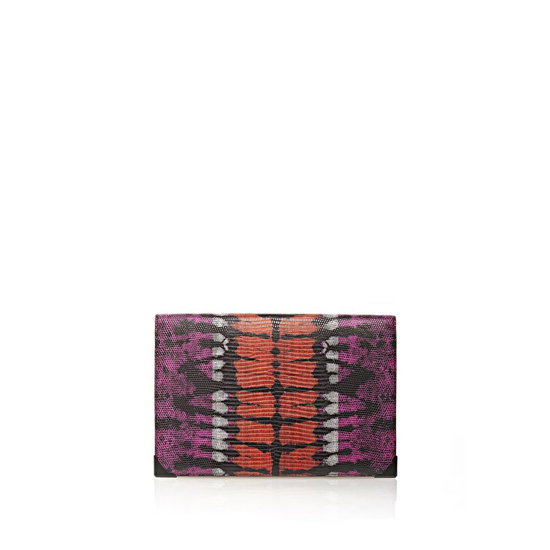 MULTICLR ALEXANDER WANG PRISMA DOUBLE BIKER PURSE IN TIE DYE BUBBA AND FLAME