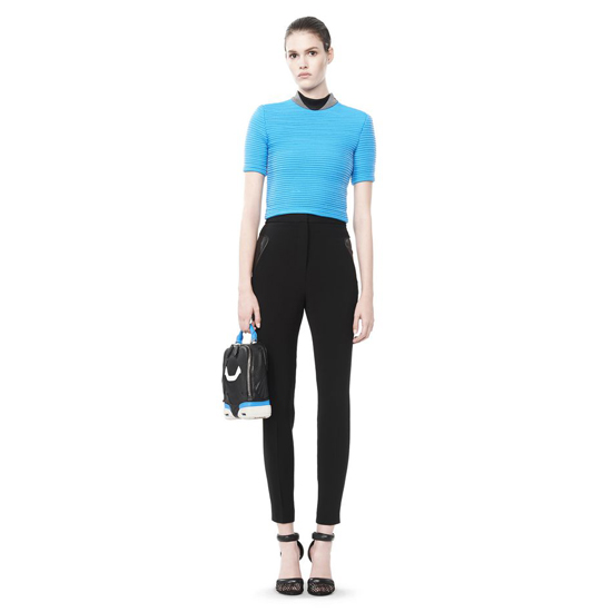 BLUE ALEXANDER WANG CROPPED CYCLING TEE