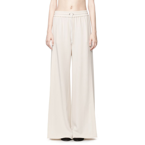 IVORY ALEXANDER WANG DRAPE SUITING SIDE SLIT PANT