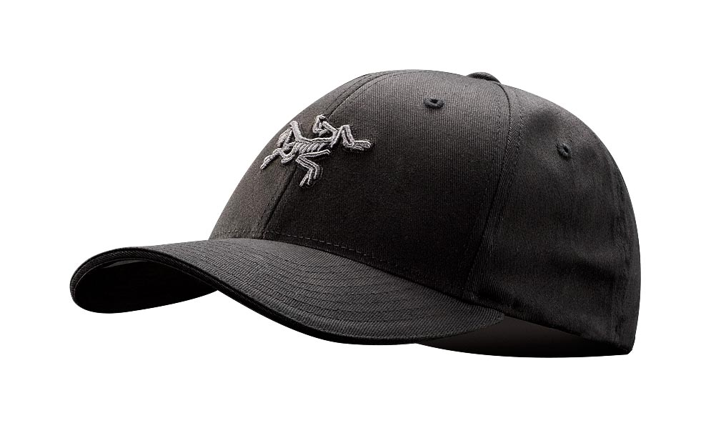 Arcteryx Men Black Embroidered Bird Cap