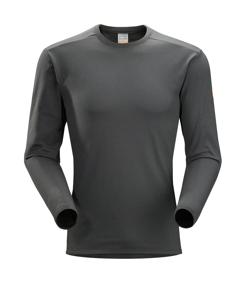 Arcteryx Men Graphite Phase SV Crew LS
