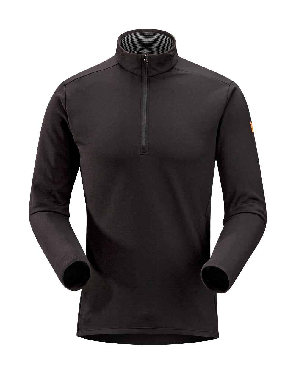 Arcteryx Men Black Phase SV Zip Neck LS