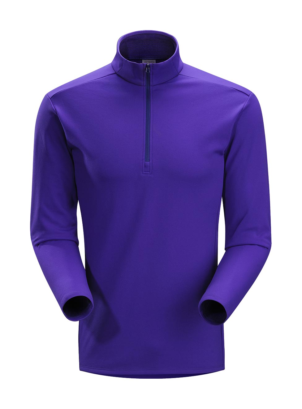 Arcteryx Men Blue Galaxy Phase SV Zip Neck LS