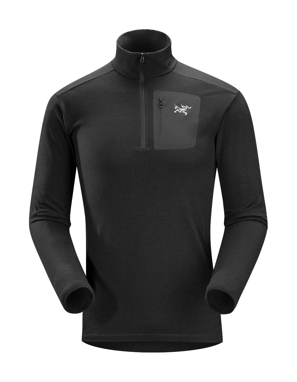 Arcteryx Men Black Rho LT Zip