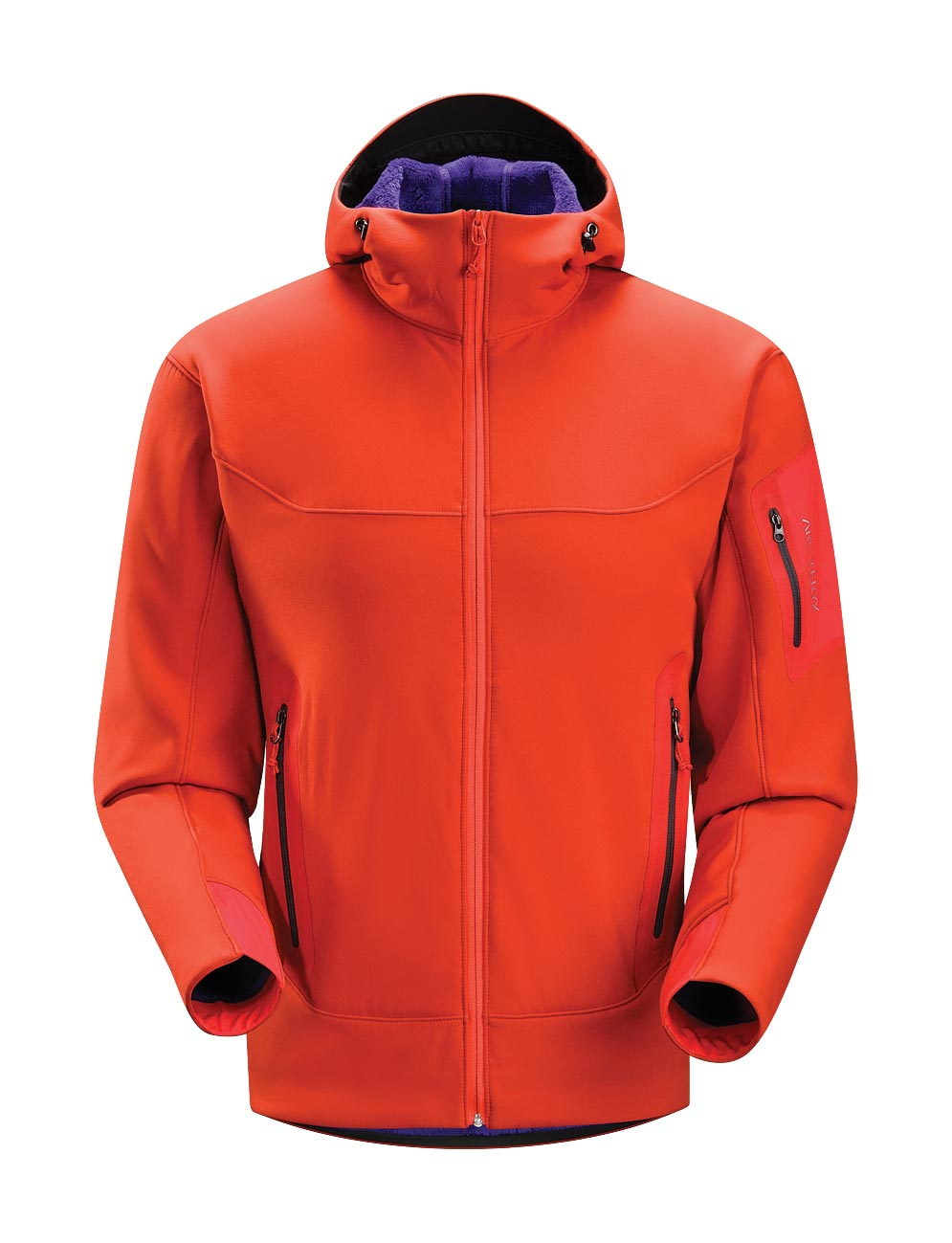 Arcteryx Men Road Rash Red Hyllus Hoody