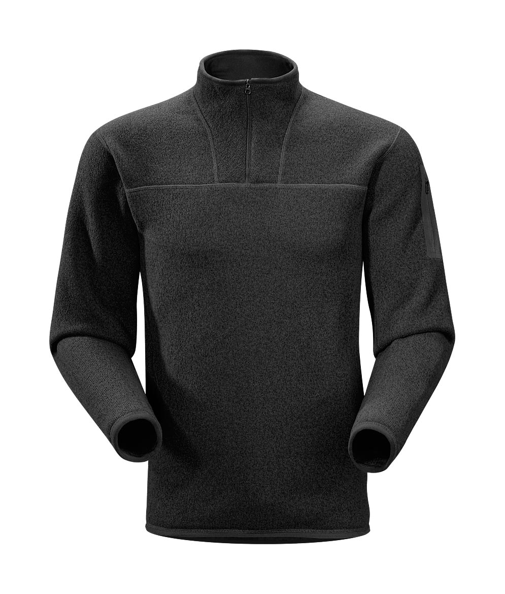 Arcteryx Men Black Covert Zip Neck