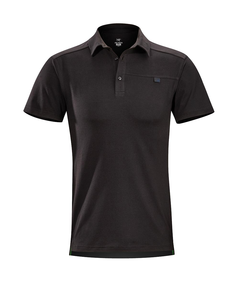 Arcteryx Men Black Captive Polo SS