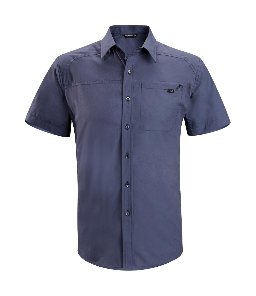 Arcteryx Men Blue Steel Frontera Shirt SS