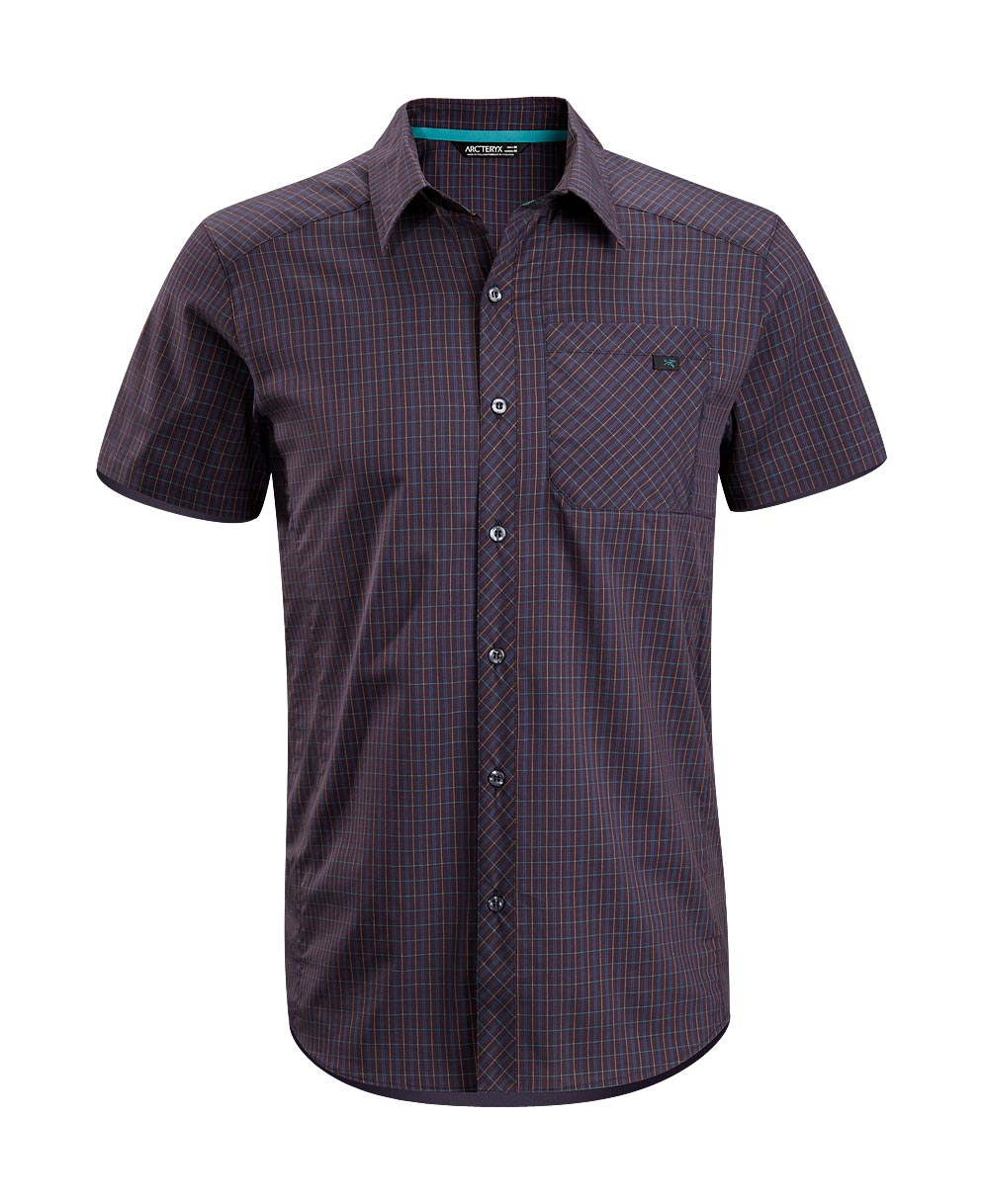Arcteryx Men Blue Kyanite Peakline Shirt SS